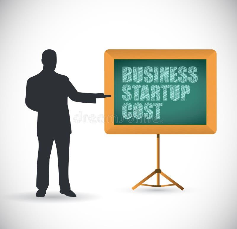 Concetto di presentazione di costi iniziale di affari illustrazione vettoriale
