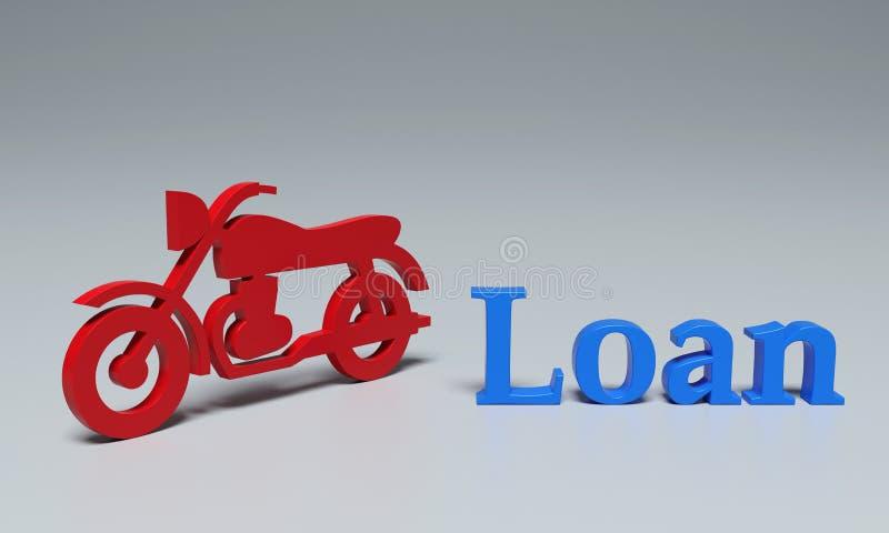 Concetto di prestito della bici - immagine della rappresentazione 3D illustrazione vettoriale