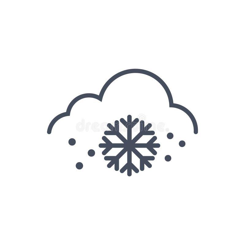 Concetto di previsione di clima dell'icona del tempo della neve illustrazione vettoriale