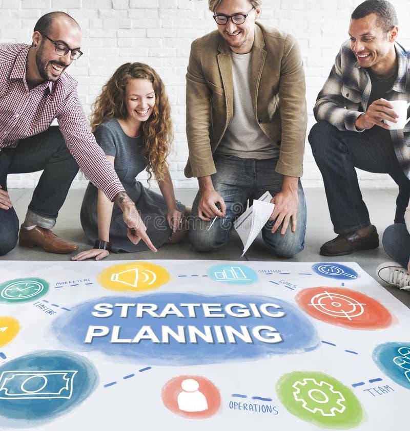 Concetto di procedure di sviluppo di risultato del business plan fotografie stock libere da diritti