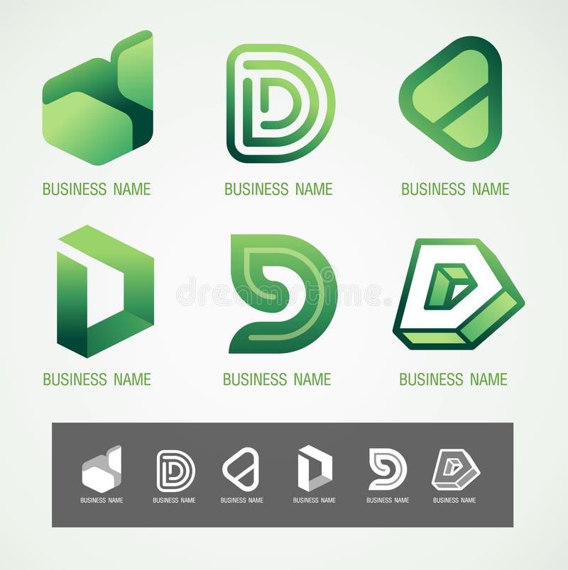 Concetto di progettazione D di simbolo e di logo fotografie stock