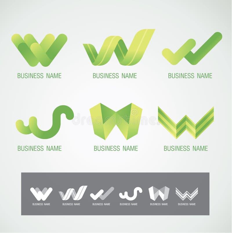 Concetto di progettazione W di simbolo e di logo fotografie stock libere da diritti