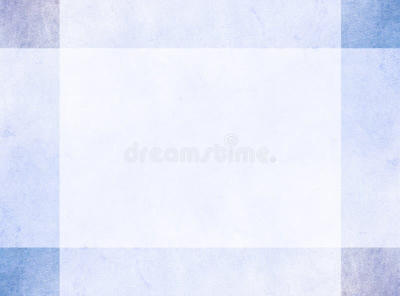 Concetto di progetto astratto Confine blu sottile di lerciume con i quadrati d'angolo più scuri fotografia stock