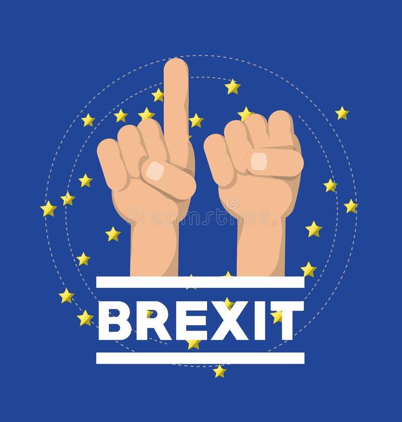 Concetto di progetto di Brexit royalty illustrazione gratis
