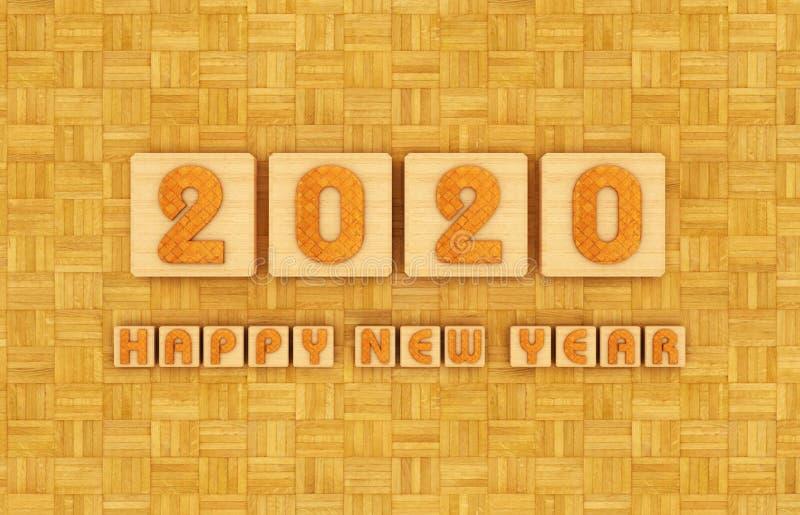 Concetto di progetto creativo del nuovo anno 2020 royalty illustrazione gratis