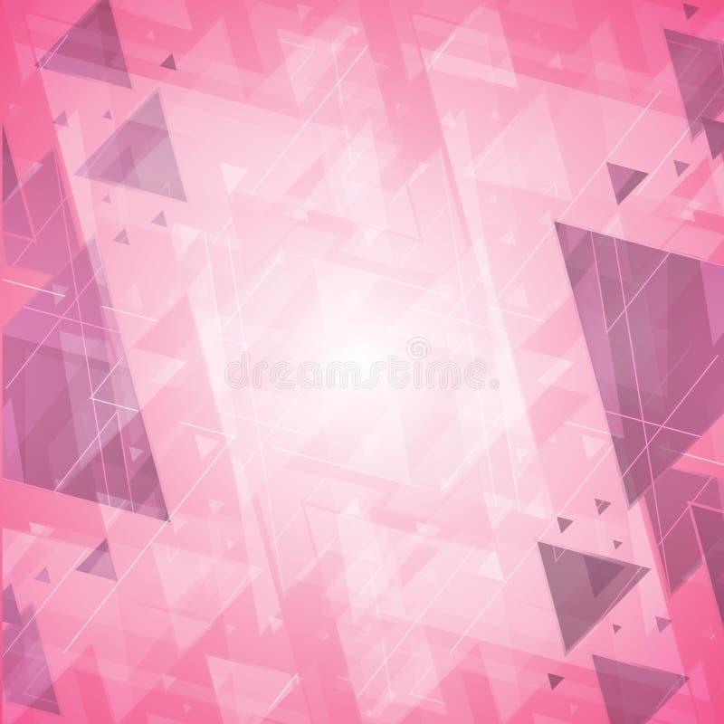 Concetto di progetto d'avanguardia moderno di tecnologia dell'innovazione del fondo rosa astratto ciao royalty illustrazione gratis