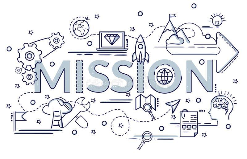 Concetto di progetto della missione Idea di Infographic di fabbricazione dei prodotti creativi royalty illustrazione gratis