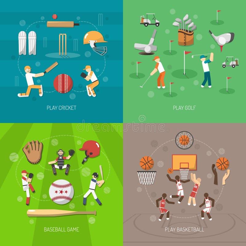 Concetto di progetto di sport illustrazione di stock