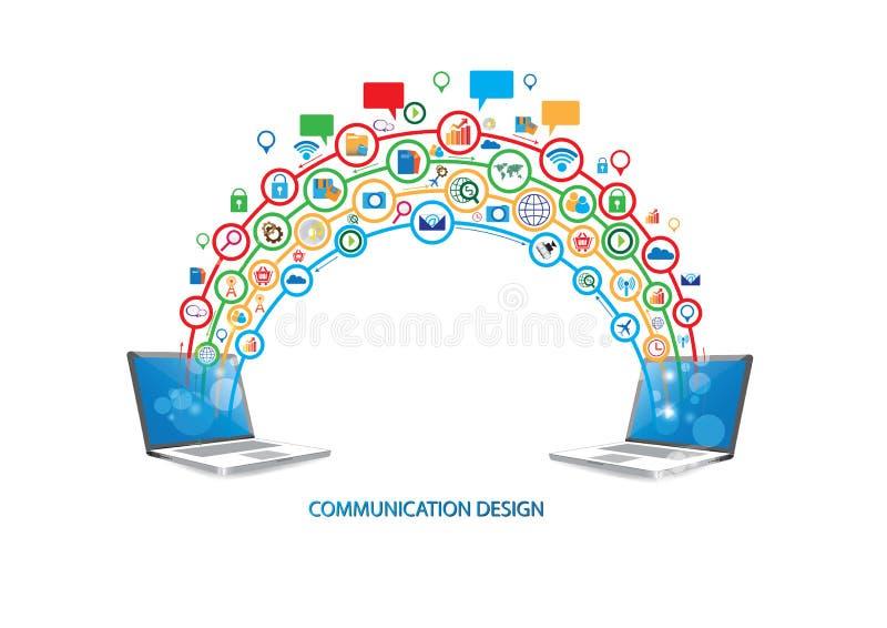 Download Concetto Di Progetto Di Tecnologia Di Rete Sociale Illustrazione Vettoriale - Illustrazione di prodotto, creativo: 56882785