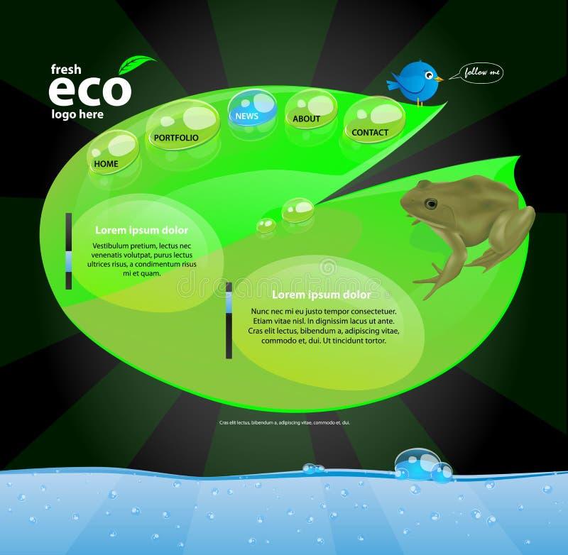 Concetto di progetto di Web di Eco illustrazione vettoriale