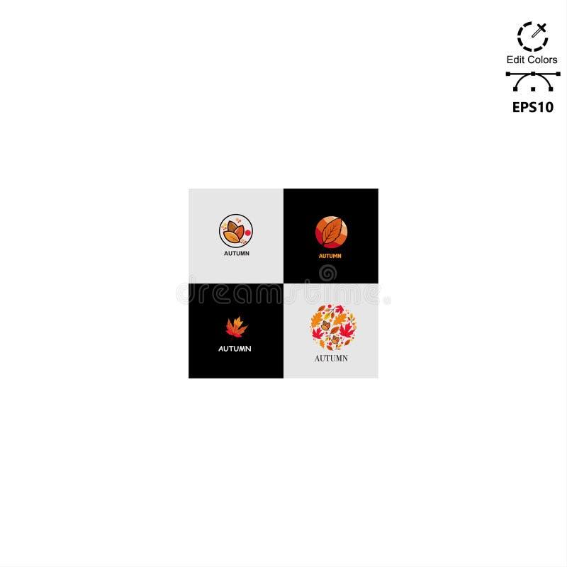concetto di progetto di logo di autunno fotografia stock