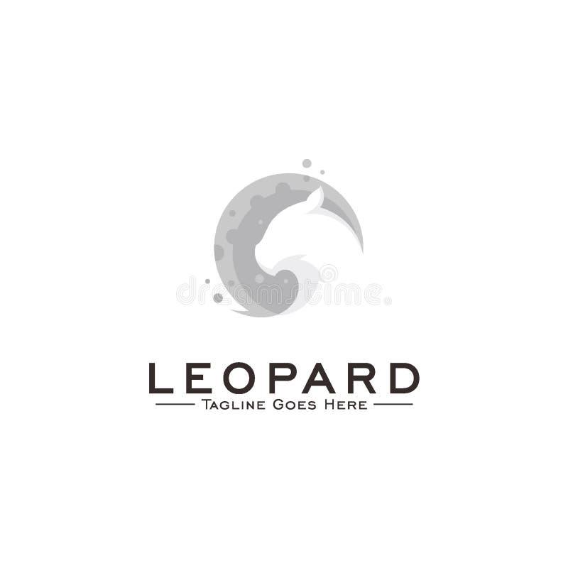 concetto di progetto di logo del leopardo illustrazione di stock