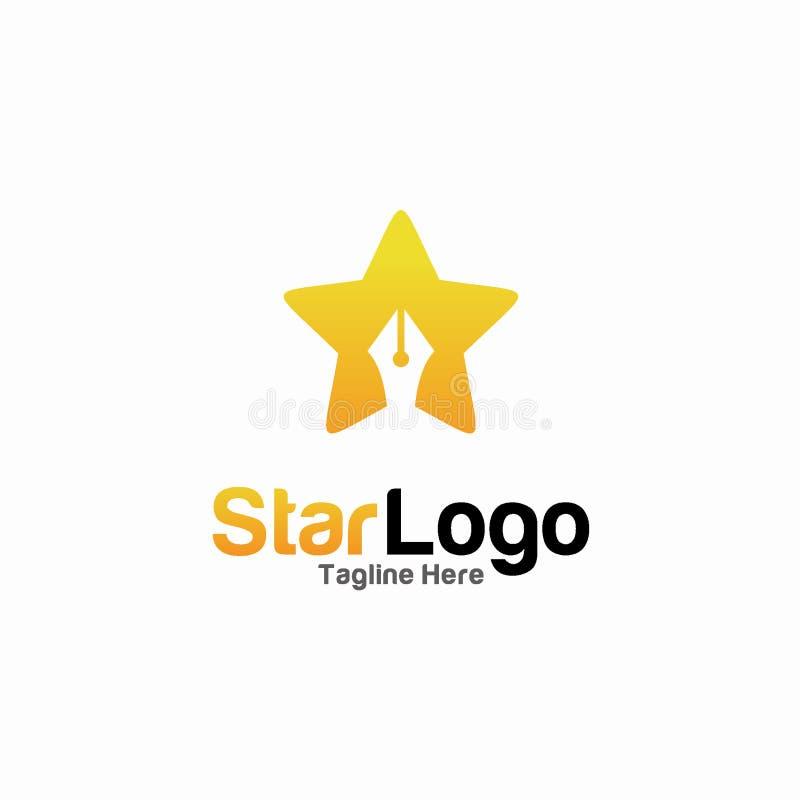 Concetto di progetto di logo della stella Modello di logo di istruzione illustrazione vettoriale