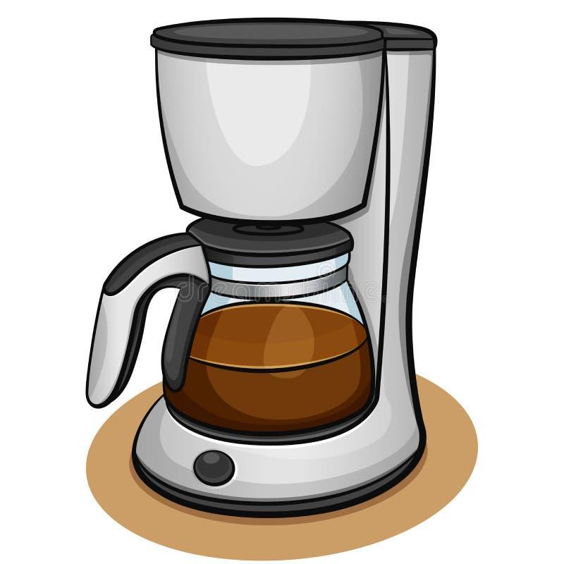 Concetto di progetto a macchina del caffè di vettore fotografia stock