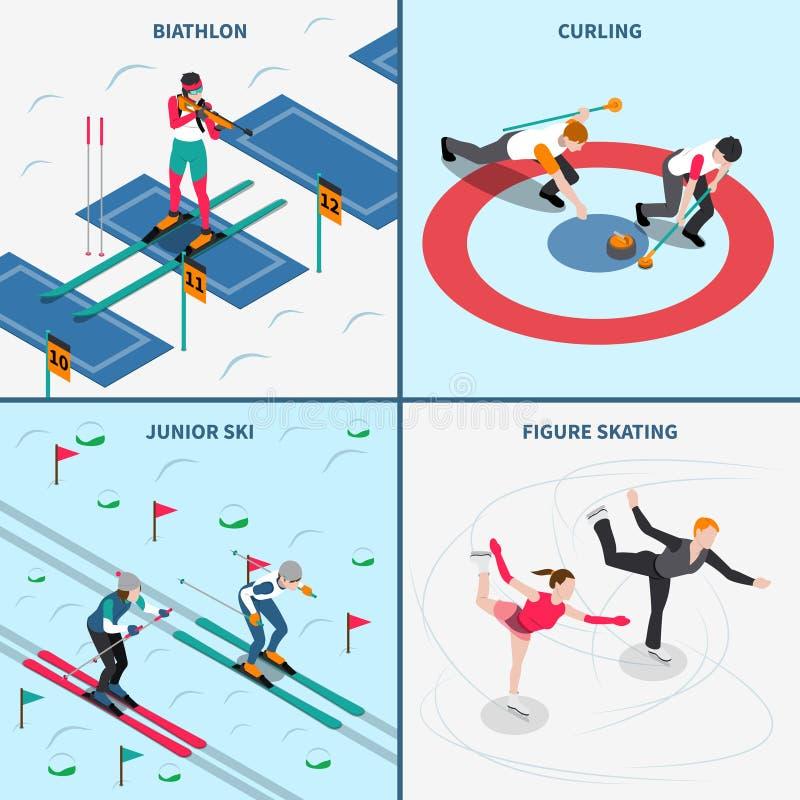Concetto di progetto di olimpiadi invernali illustrazione di stock