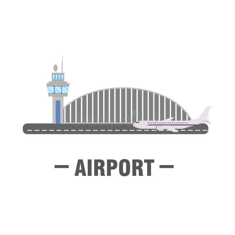 Concetto di progetto piano dell'aeroporto illustrazione vettoriale