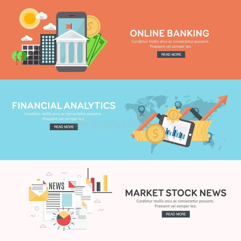 Concetto di progetto piano di grande analisi dei dati di affari, analisi dei dati finanziaria, attività bancarie online, notizie  royalty illustrazione gratis