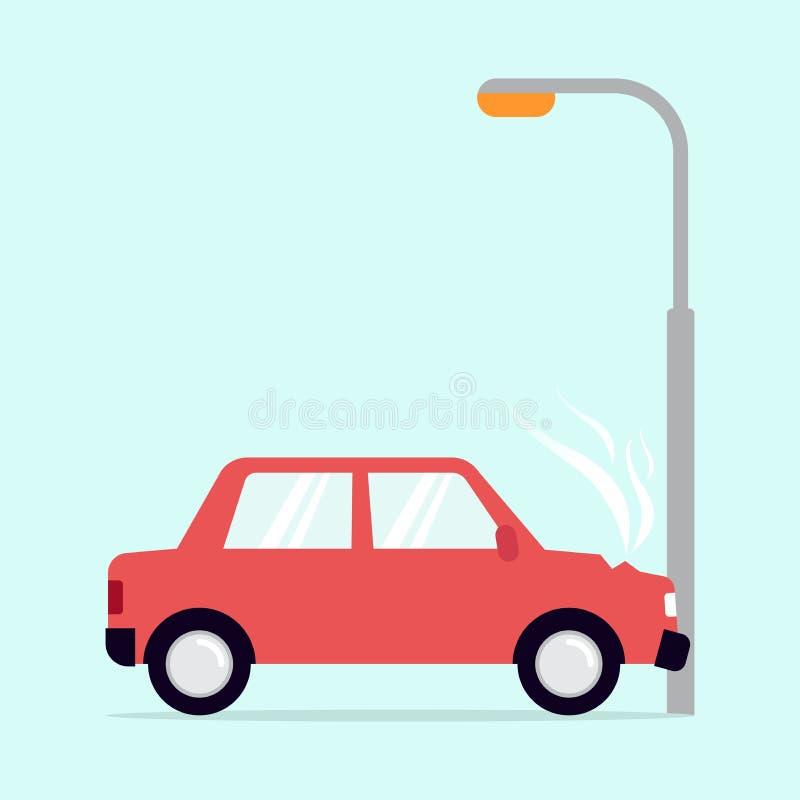 Concetto di progetto piano per l'incidente stradale illustrazione di stock