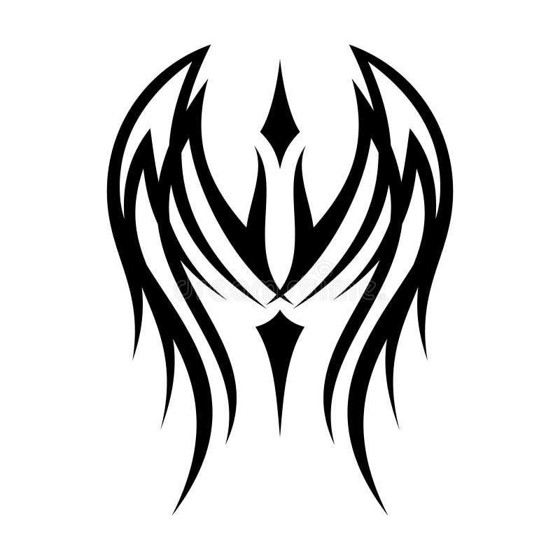 Concetto di progetto tribale della migliore della siluetta ala creativa dell'illustrazione illustrazione di stock