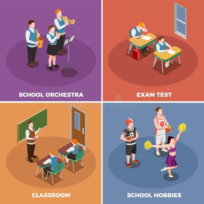 Concetto di progetto di vita scolastica illustrazione di stock