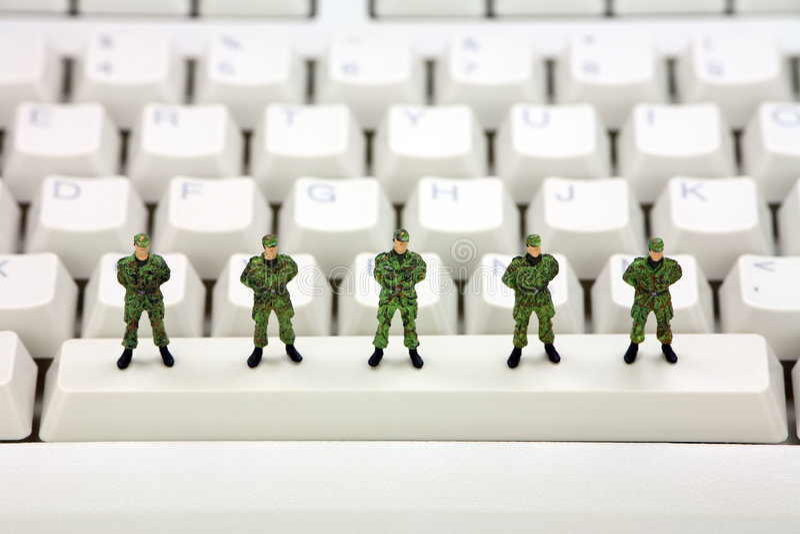 Concetto di protezione dei dati del calcolatore immagini stock libere da diritti