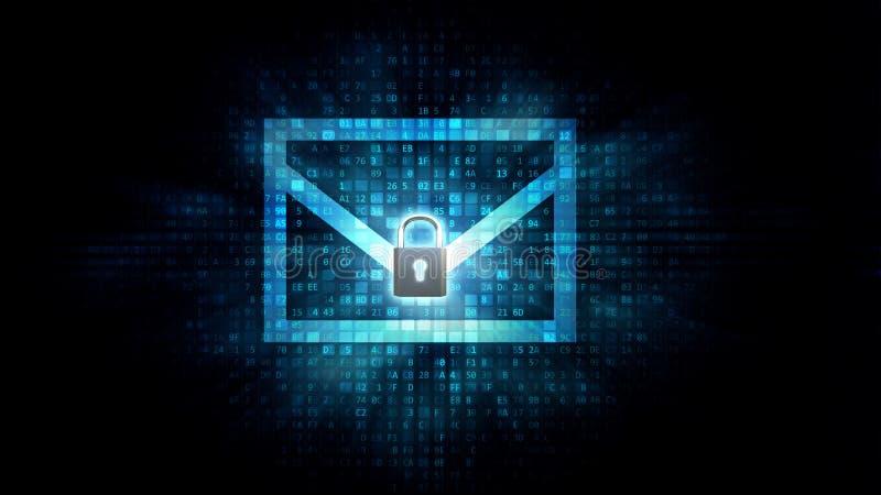 Concetto di protezione della posta elettronica illustrazione di stock
