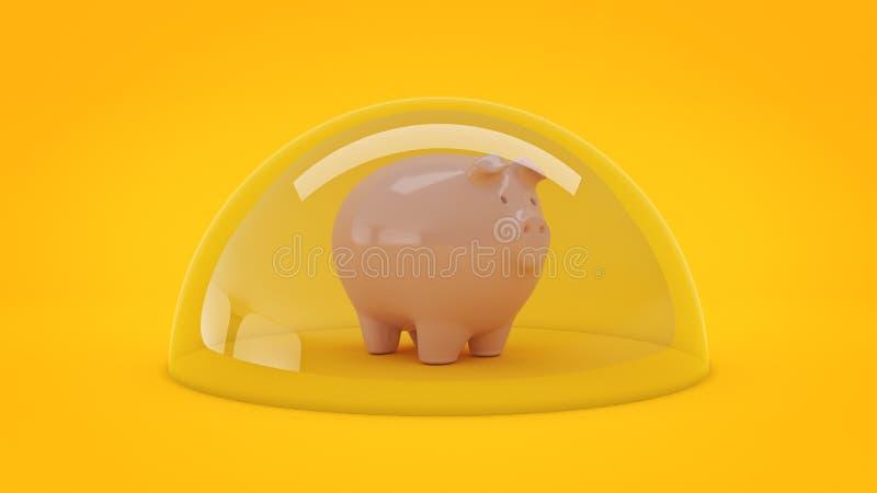 Concetto di protezione di risparmio illustrazione vettoriale