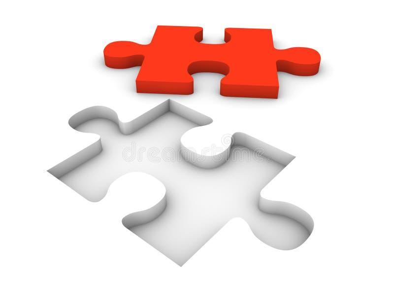 Concetto di puzzle del puzzle royalty illustrazione gratis