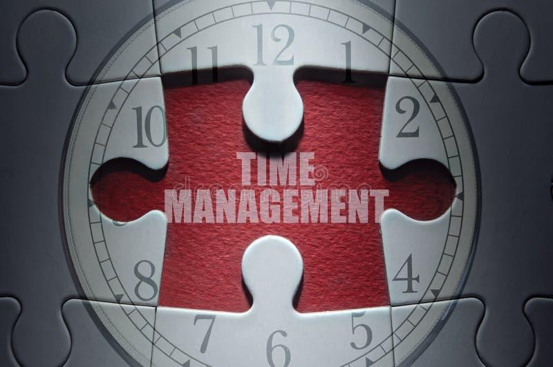 Concetto di puzzle della gestione di tempo fotografie stock