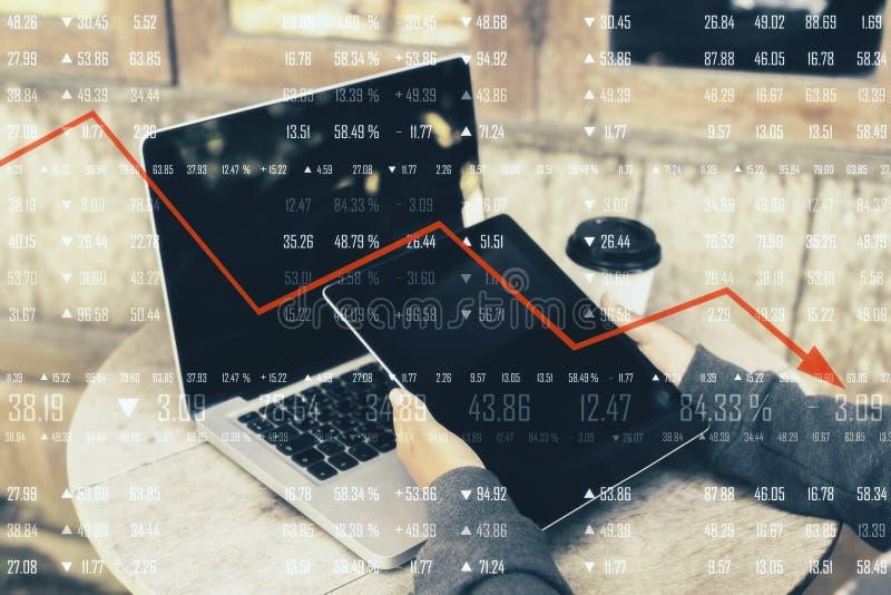 Concetto di recessione economica fotografie stock