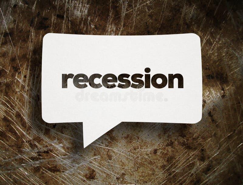 Concetto di recessione immagine stock libera da diritti