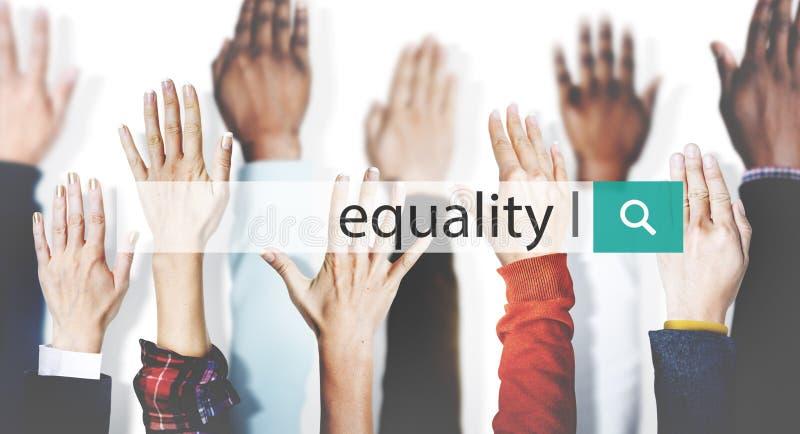 Concetto di relazione di rispetto di imparzialità dell'equilibrio di uguaglianza fotografie stock libere da diritti