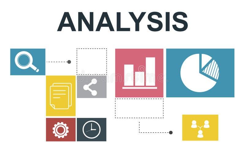 Concetto di relazione informativa di analisi dei dati di analisi dei dati illustrazione di stock