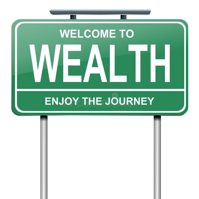 Concetto di ricchezza. royalty illustrazione gratis