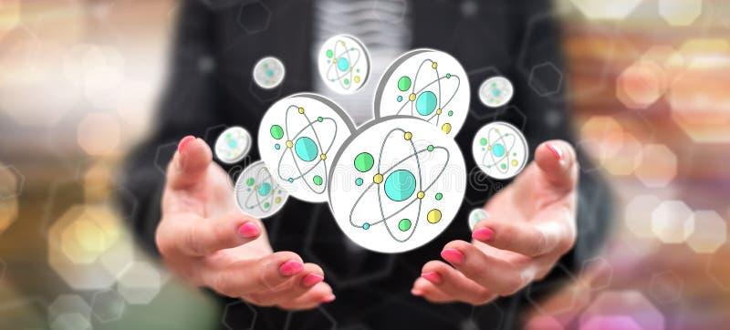 Concetto di ricerca nucleare fotografia stock