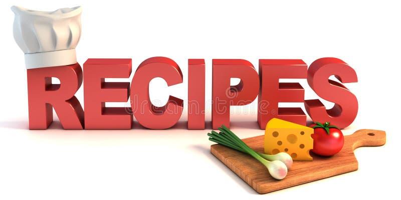 Concetto di ricette 3d illustrazione vettoriale