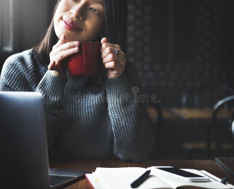 Concetto di rilassamento di ricreazione della pausa caffè immagini stock