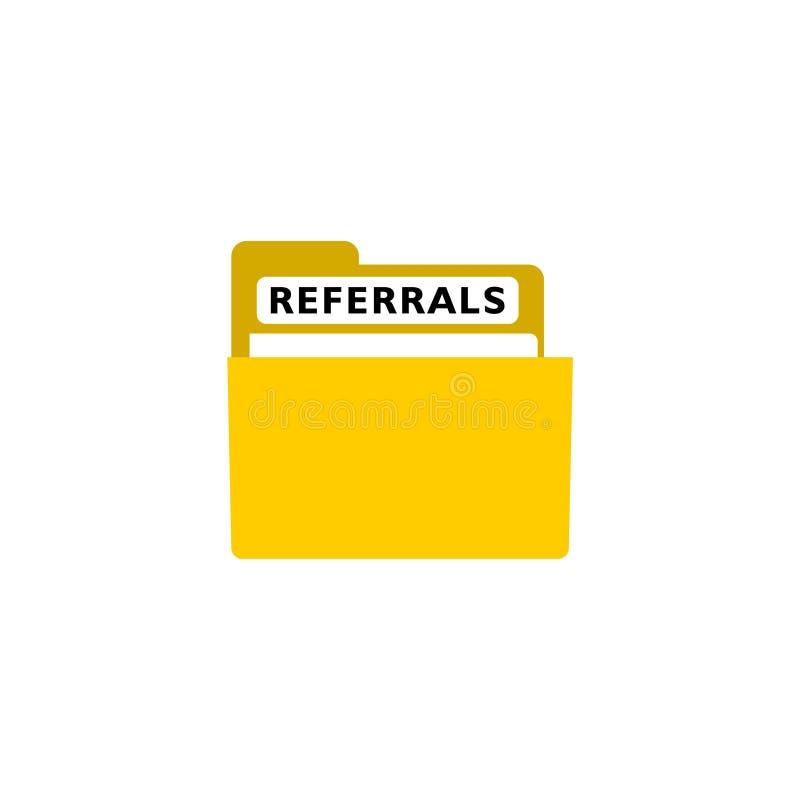 Concetto di rinvii sul logo dell'icona del registro della cartella royalty illustrazione gratis