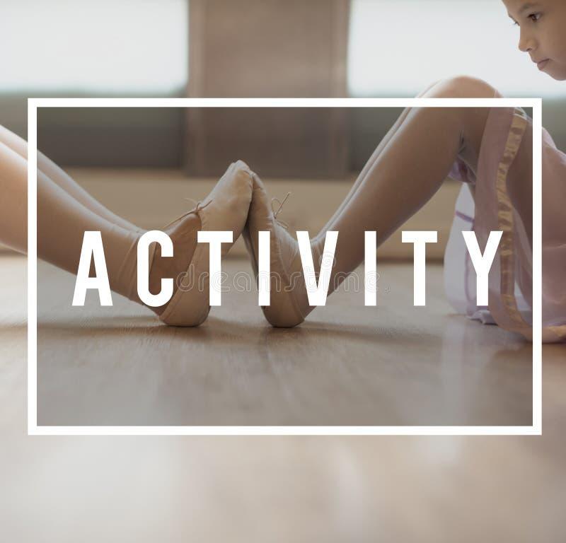 Concetto di ripetizione di hobby di dancing di ricreazione della ballerina immagine stock libera da diritti