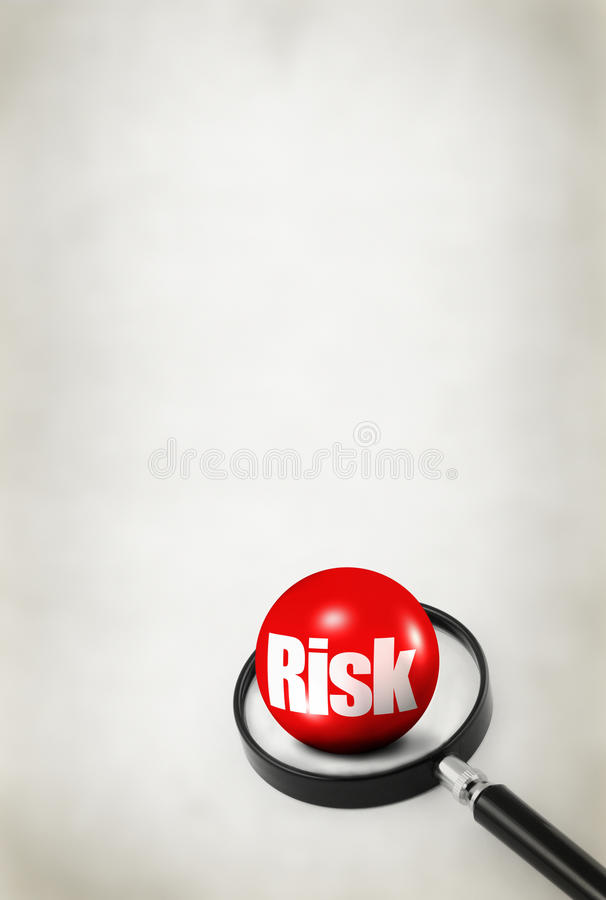 Concetto di rischio su priorità bassa astratta fotografie stock