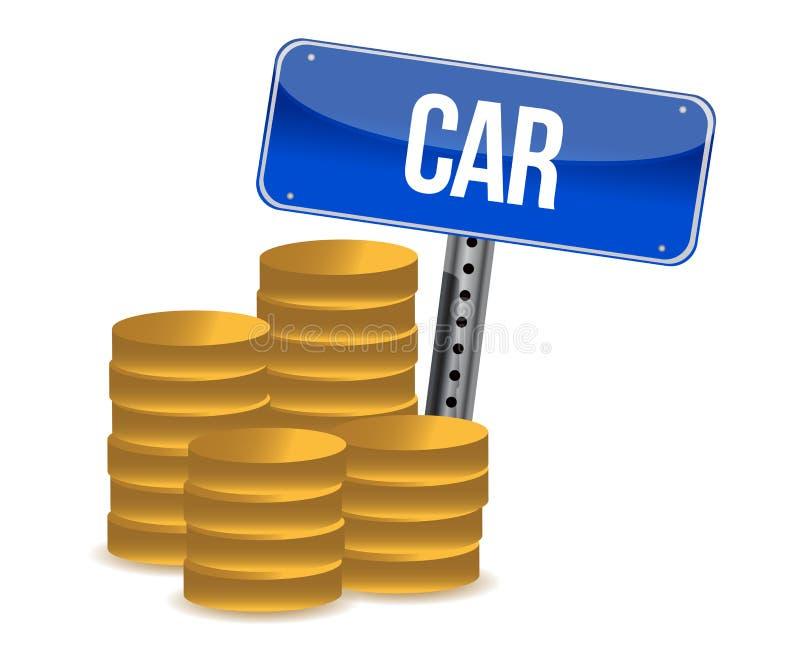 Concetto di risparmio dell'automobile illustrazione vettoriale