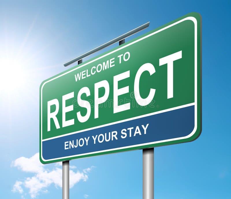 Concetto di rispetto. illustrazione vettoriale