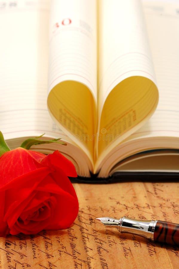 Concetto di romance dell'annata fotografie stock libere da diritti