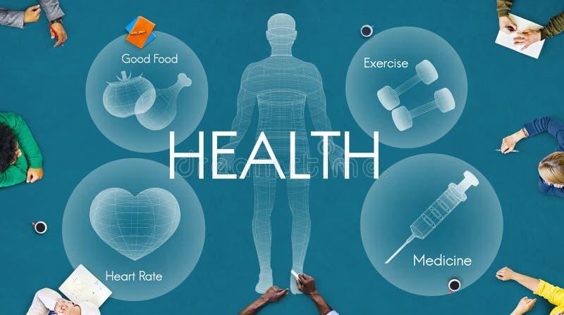 Concetto di sanità di vitalità di benessere di benessere di salute fotografia stock