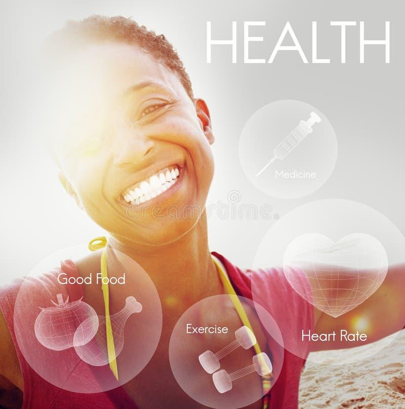 Concetto di sanità di vitalità di benessere di benessere di salute fotografie stock libere da diritti