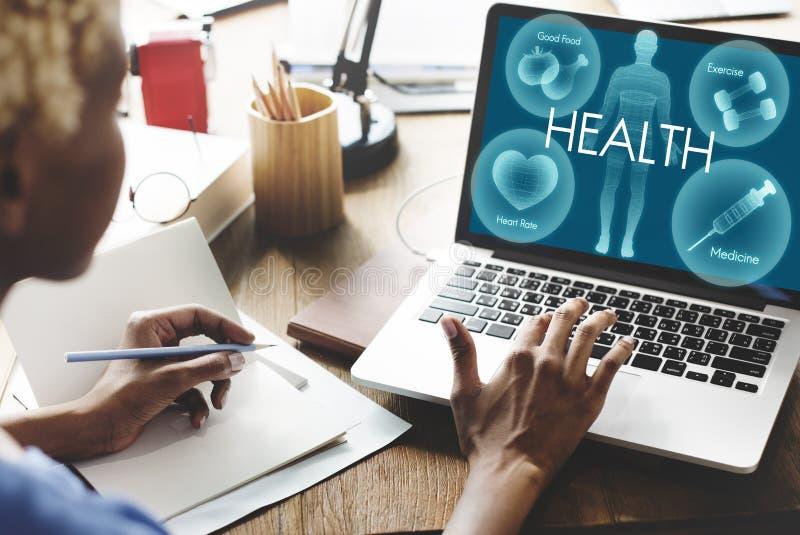 Concetto di sanità di vitalità di benessere di benessere di salute immagini stock