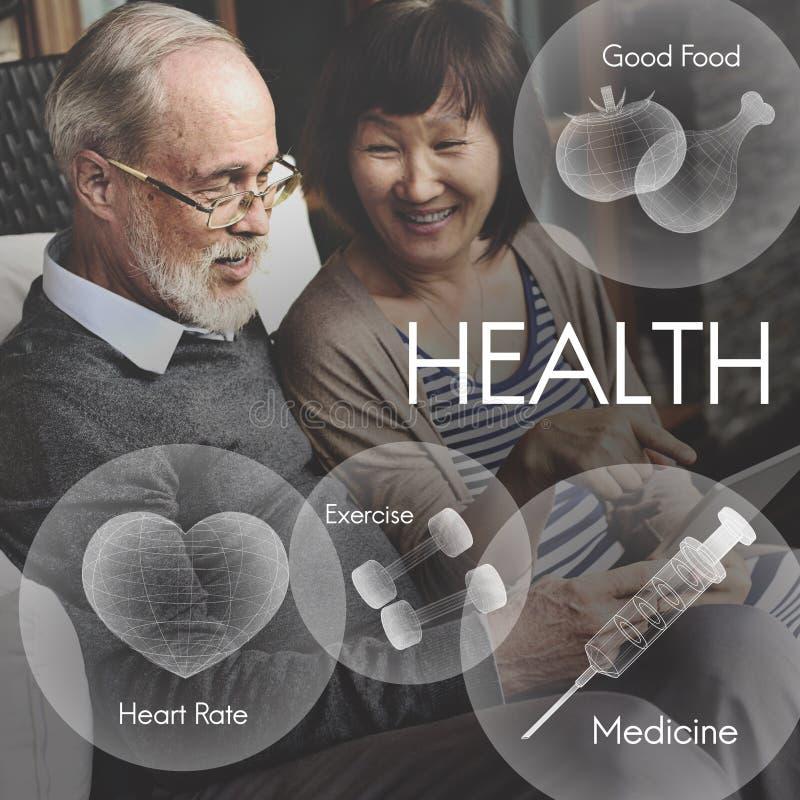 Concetto di sanità di vitalità di benessere di benessere di salute fotografia stock libera da diritti