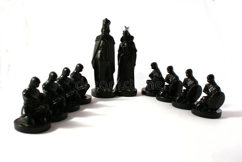 Concetto di scacchi di potenza fotografia stock