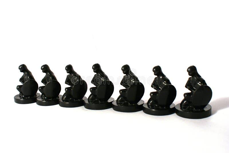 Concetto di scacchi di uguaglianza fotografia stock libera da diritti