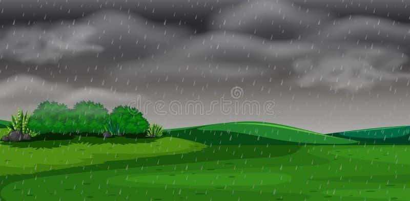 Concetto di scena della tempesta del parco royalty illustrazione gratis